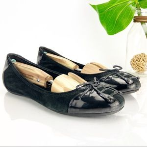 Cole Haan Ballet Flats NIke Air Black Leather Bow